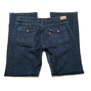 Levis 545 Low Boot Cut Stretch Jeans